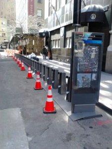 stazione di bikesharing installata - source: twitter citibikeNyc